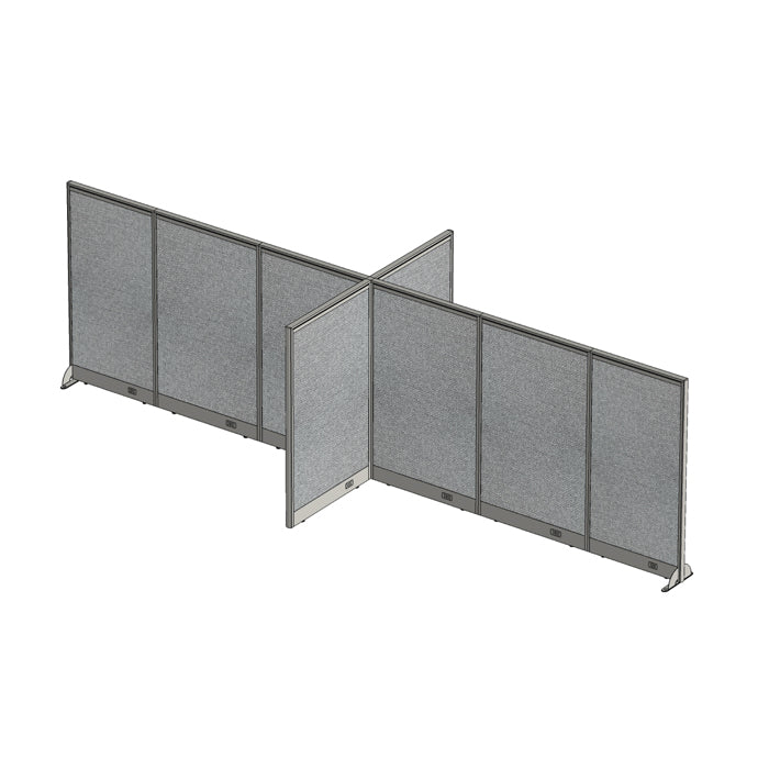 GOF Office X-Shaped Partition 72D x 204W x 60H - Kainosbuy.com