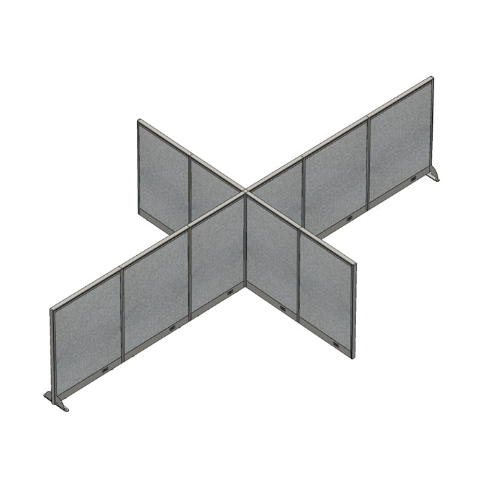 GOF Office X-Shaped Partition 120D x 204Wx 48H - Kainosbuy.com