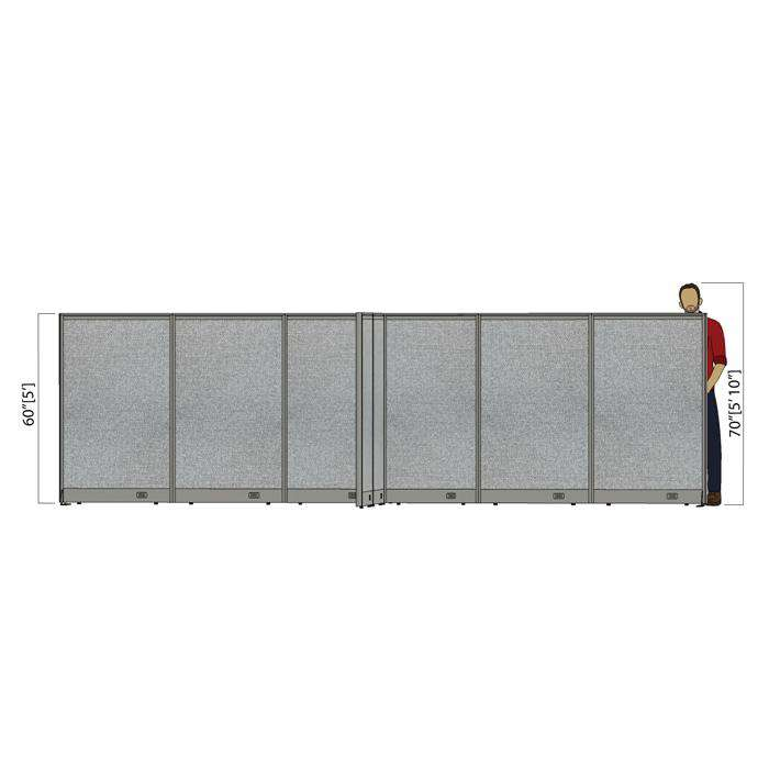 GOF Office X-Shaped Partition 132D x 204W x 60H - Kainosbuy.com