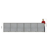 GOF Office X-Shaped Partition 60D x 216W x 48H - Kainosbuy.com
