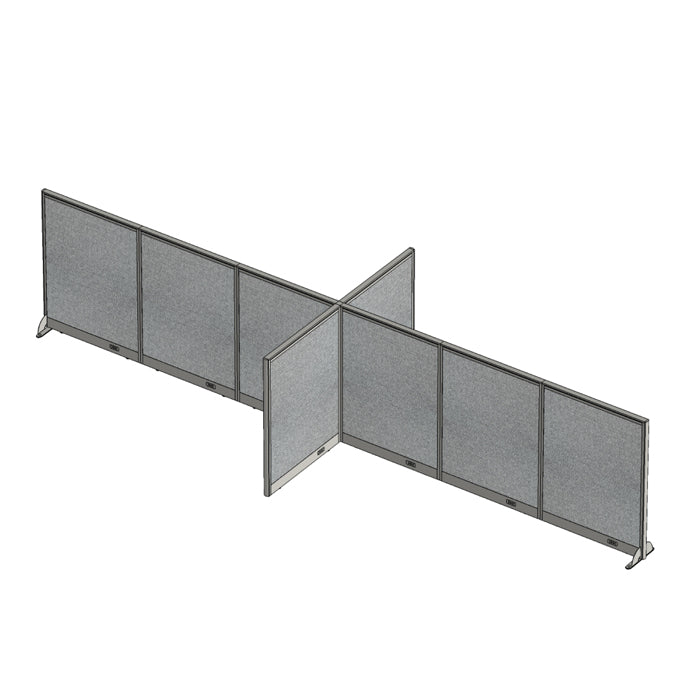 GOF Office X-Shaped Partition 72D x 216W x 48H - Kainosbuy.com