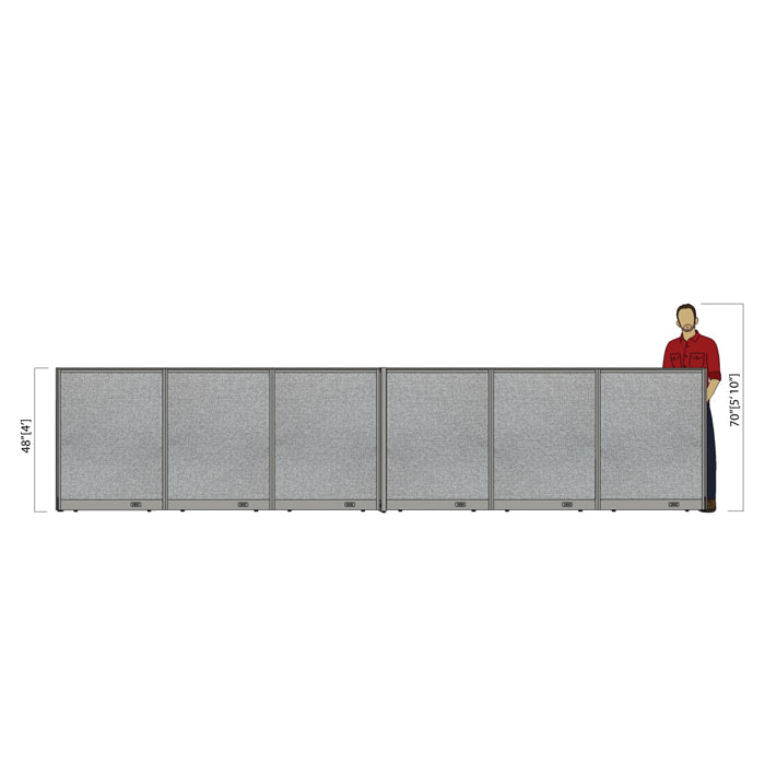 GOF Office X-Shaped Partition 96D x 216W x 48H - Kainosbuy.com