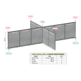 GOF Office X-Shaped Partition 144D x 216W x 48H - Kainosbuy.com