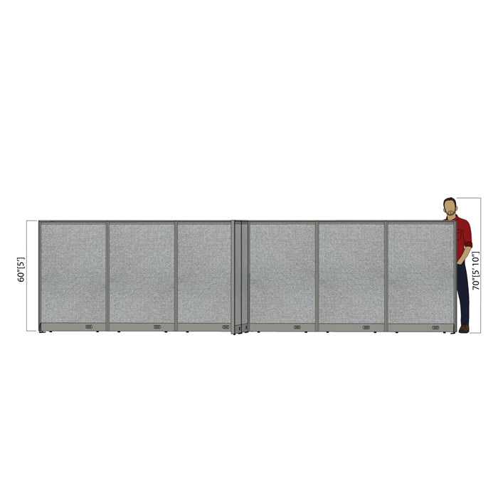 GOF Office X-Shaped Partition 156D x 216W x 60H - Kainosbuy.com