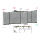 GOF Office X-Shaped Partition 156D x 216W x 72H - Kainosbuy.com