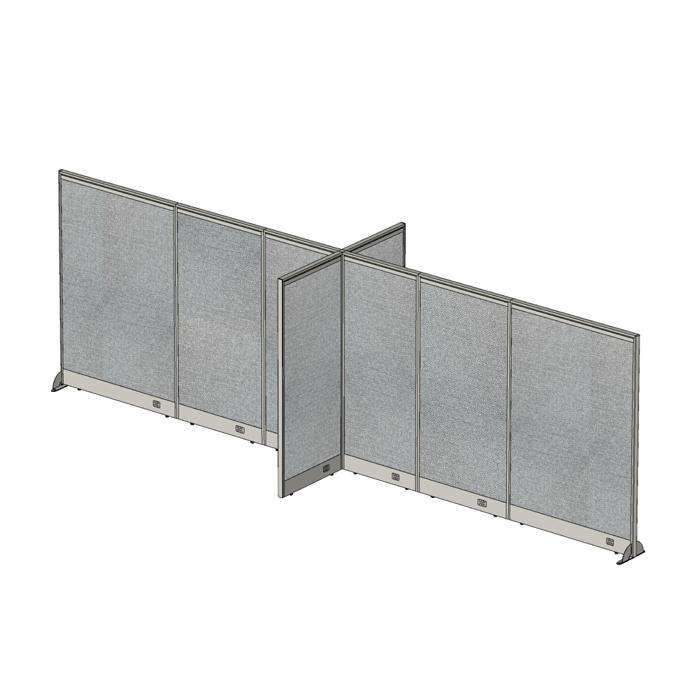 GOF Office X-Shaped Partition 60D x 228W x 72H - Kainosbuy.com