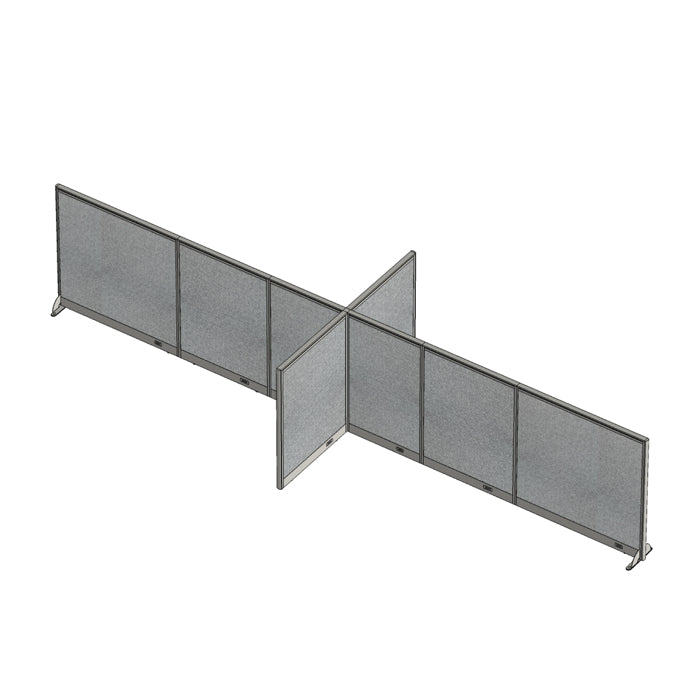 GOF Office X-Shaped Partition 72D x 228W x 48H - Kainosbuy.com