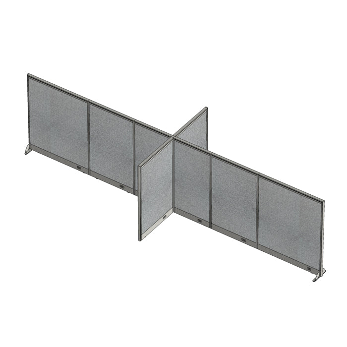 GOF Office X-Shaped Partition 72D x 228W x 60H - Kainosbuy.com