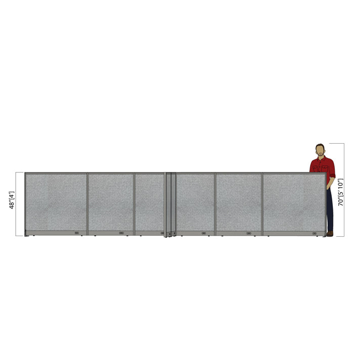 GOF Office X-Shaped Partition 132D x 228W x 48H - Kainosbuy.com