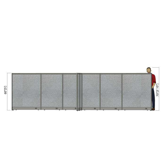 GOF Office X-Shaped Partition 132D x 228W x 60H - Kainosbuy.com