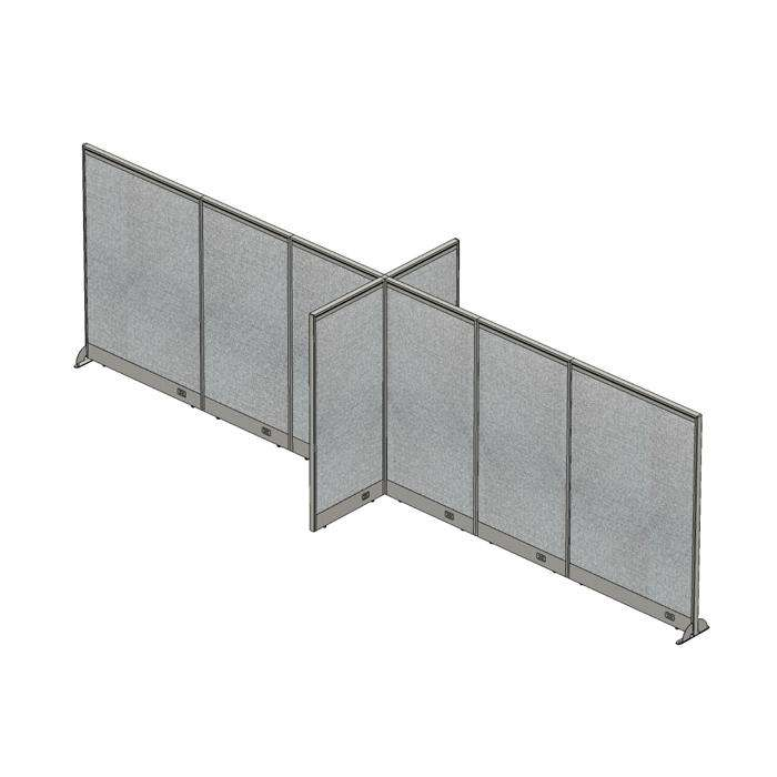 GOF Office X-Shaped Partition 60D x 240W x 72H - Kainosbuy.com