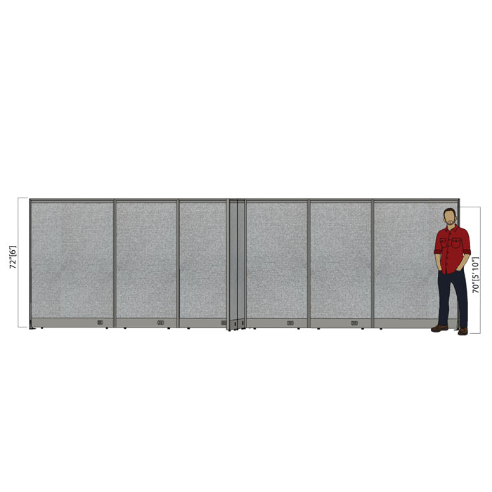 GOF Office X-Shaped Partition 120D x 240W x 72H - Kainosbuy.com