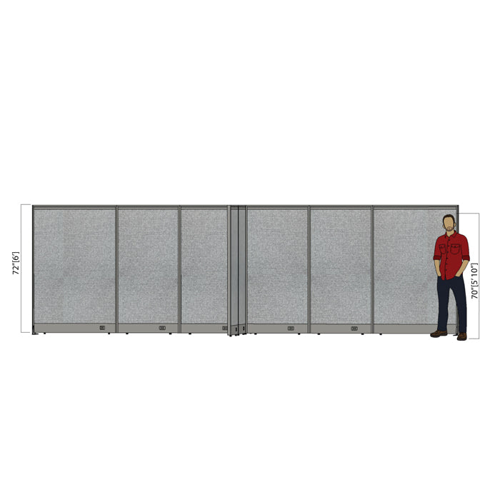 GOF Office X-Shaped Partition 132D x 240W x 72H - Kainosbuy.com