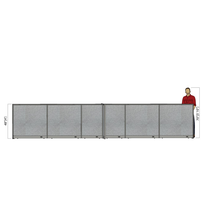 GOF Office X-Shaped Partition 60D x 252W x 48H - Kainosbuy.com