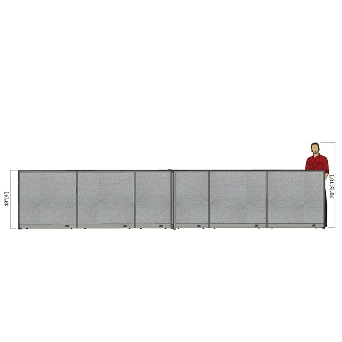 GOF Office X-Shaped Partition 96D x 252W x 48H - Kainosbuy.com