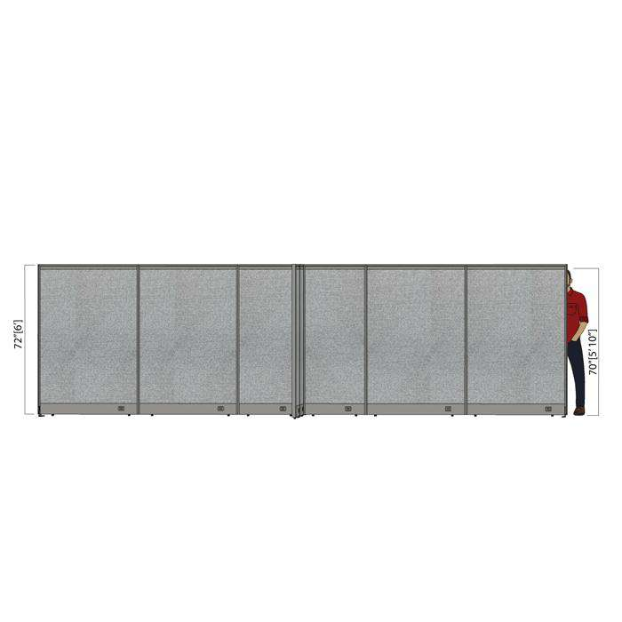 GOF Office X-Shaped Partition 120D x 252W x 72H - Kainosbuy.com