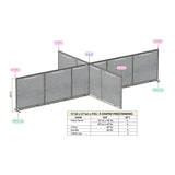 GOF Office X-Shaped Partition 156D x 252W x 48H - Kainosbuy.com