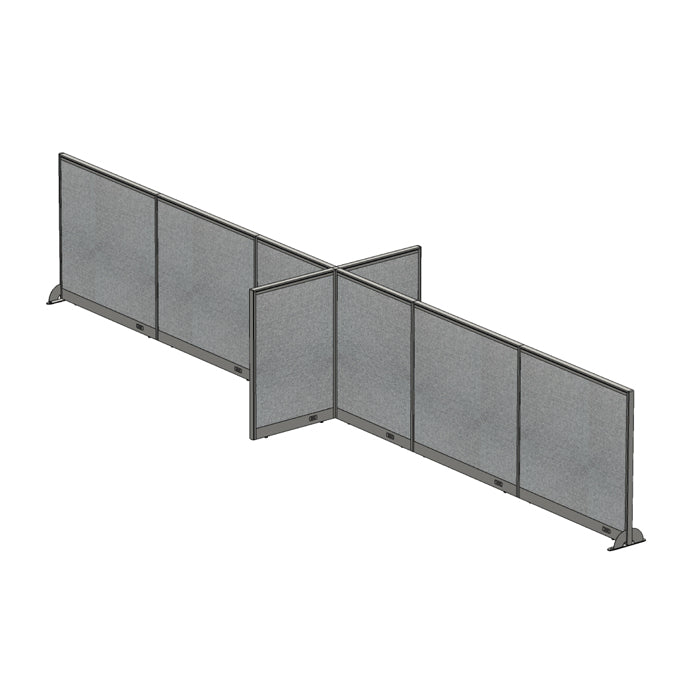 GOF Office X-Shaped Partition 60D x 264W x 48H - Kainosbuy.com