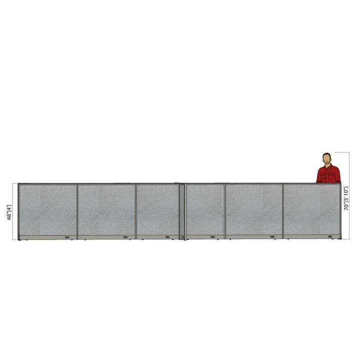 GOF Office X-Shaped Partition 72D x 264W x 48H - Kainosbuy.com