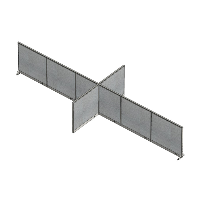 GOF Office X-Shaped Partition 96D x 264Wx 48H - Kainosbuy.com