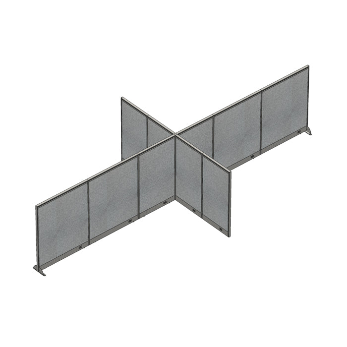 GOF Office X-Shaped Partition 120D x 264W x 60H - Kainosbuy.com