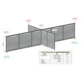 GOF Office X-Shaped Partition 132D x 264W x 48H - Kainosbuy.com
