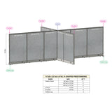 GOF Office X-Shaped Partition 156D x 264W x 72H - Kainosbuy.com