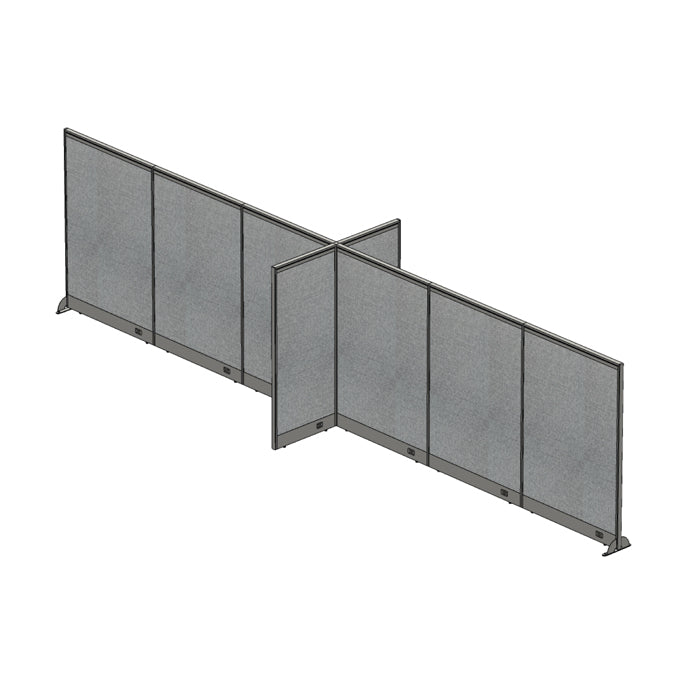 GOF Office X-Shaped Partition 60D x 288W x 72H - Kainosbuy.com