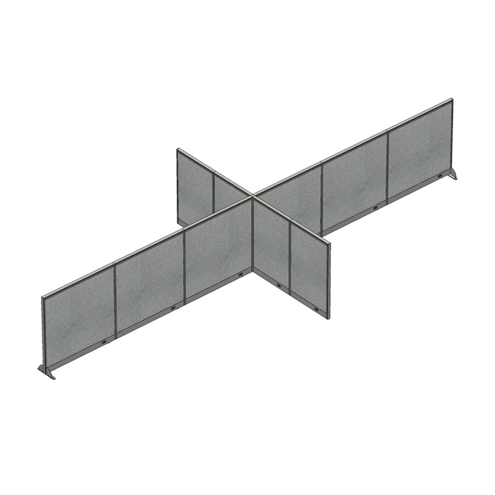 GOF Office X-Shaped Partition 120D x 288W x 48H - Kainosbuy.com