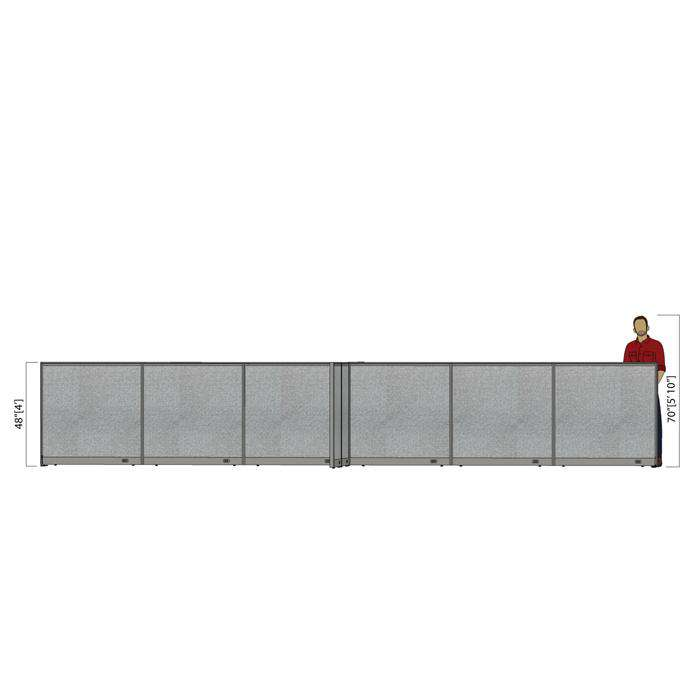 GOF Office X-Shaped Partition 132D x 288W x 48H - Kainosbuy.com