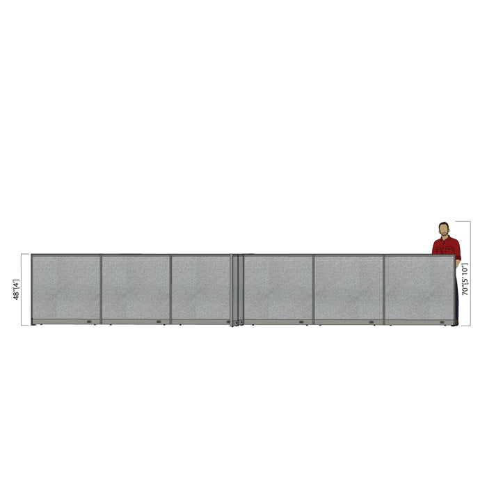 GOF Office X-Shaped Partition 156D x 288W x 48H - Kainosbuy.com