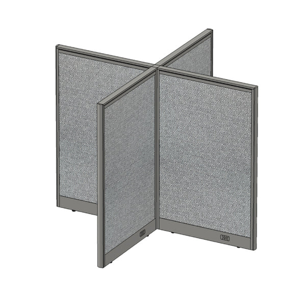 GOF Office X-Shaped Partition 60D x 60W x 48H - Kainosbuy.com