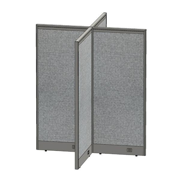 GOF Office X-Shaped Partition 60D x 72W x 72H - Kainosbuy.com