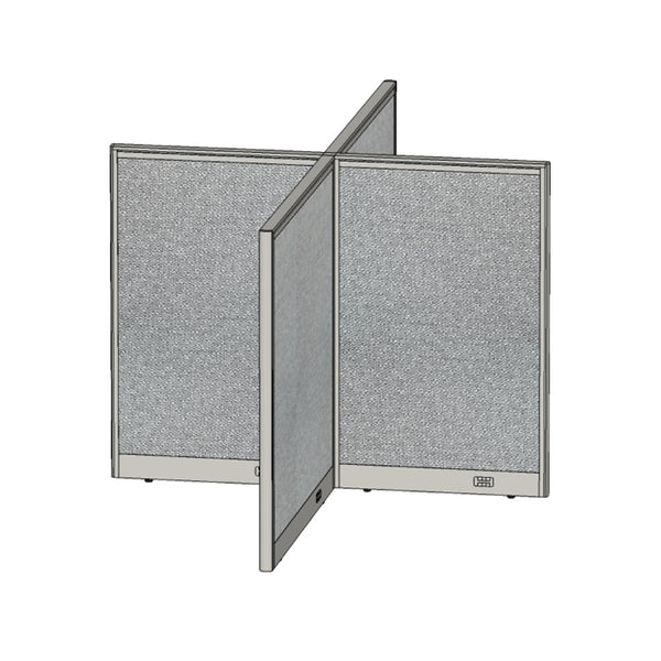 GOF Office X-Shaped Partition 60D x 96W x 48H - Kainosbuy.com