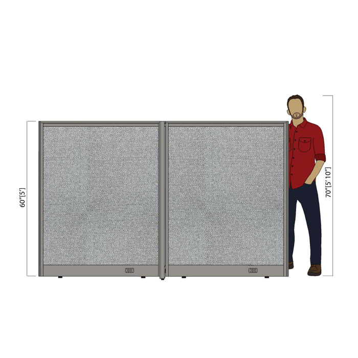 GOF Office X-Shaped Partition 72D x 96W x 60H - Kainosbuy.com