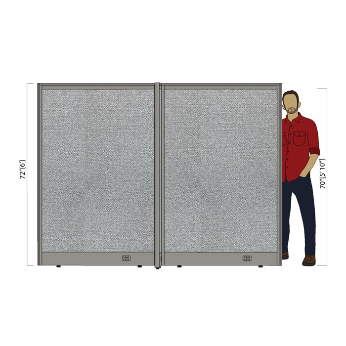 GOF Office X-Shaped Partition 72D x 96W x 72H - Kainosbuy.com