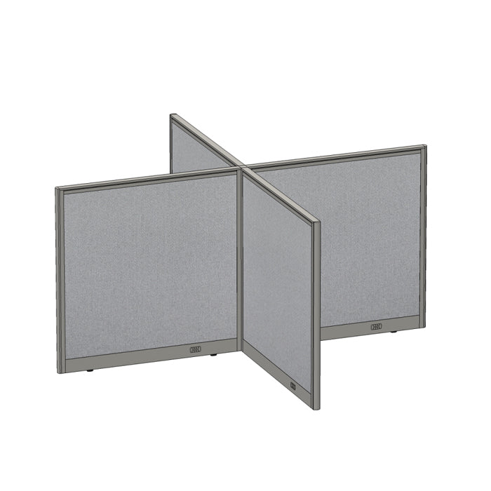 GOF Office X-Shaped Partition 96D x 96W x 48H - Kainosbuy.com