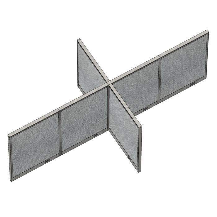 GOF Office X-Shaped Partition 60D x 120W x 48H - Kainosbuy.com