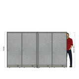 GOF Office X-Shaped Partition 96D x 120W x 72H - Kainosbuy.com