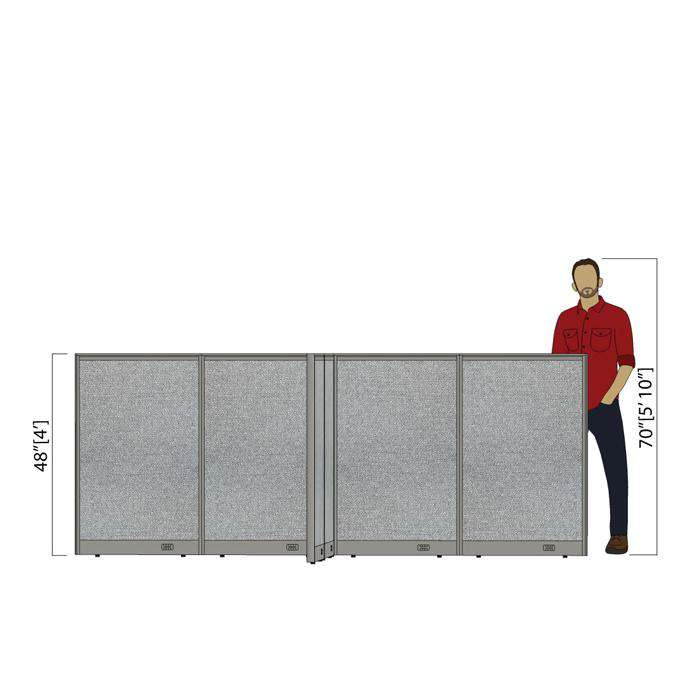 GOF Office X-Shaped Partition 120D x 120Wx 48H - Kainosbuy.com