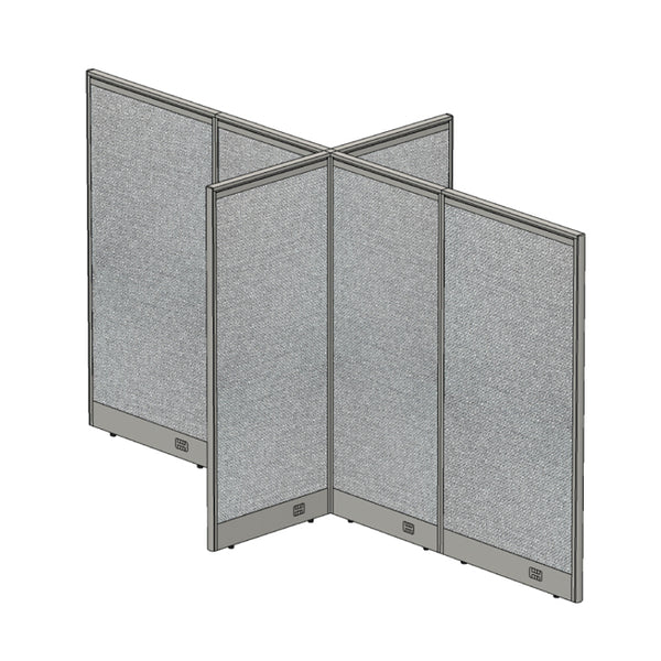 GOF Office X-Shaped Partition 60D x 132W x 72H - Kainosbuy.com