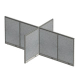 GOF Office X-Shaped Partition 72D x 132W x 48H - Kainosbuy.com