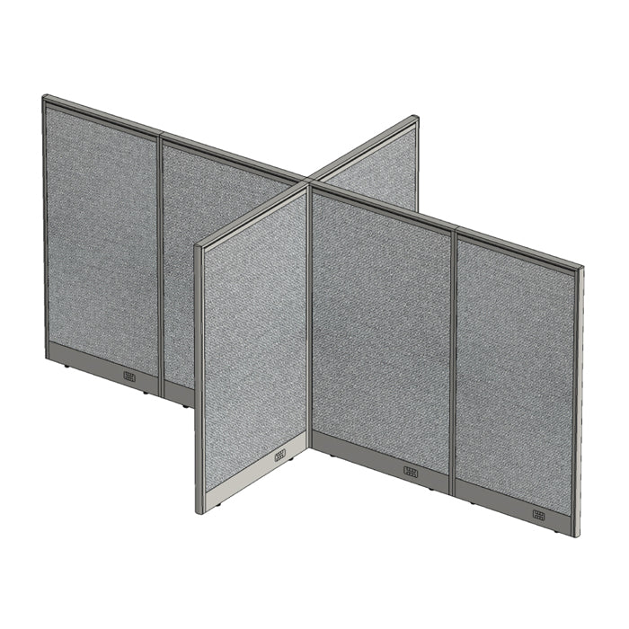 GOF Office X-Shaped Partition 72D x 132W x 60H - Kainosbuy.com