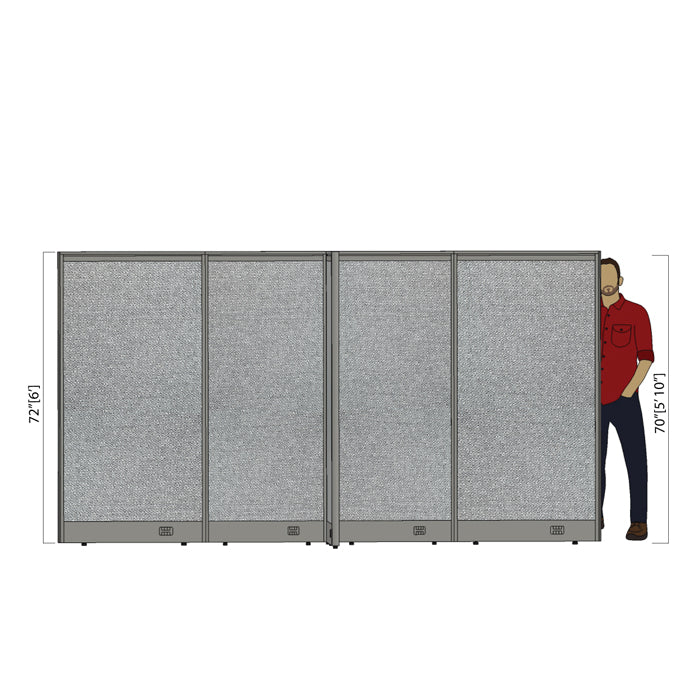 GOF Office X-Shaped Partition 72D x 132W x 72H - Kainosbuy.com