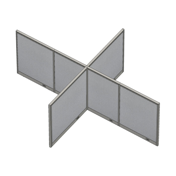 GOF Office X-Shaped Partition 96D x 132W x 48H - Kainosbuy.com