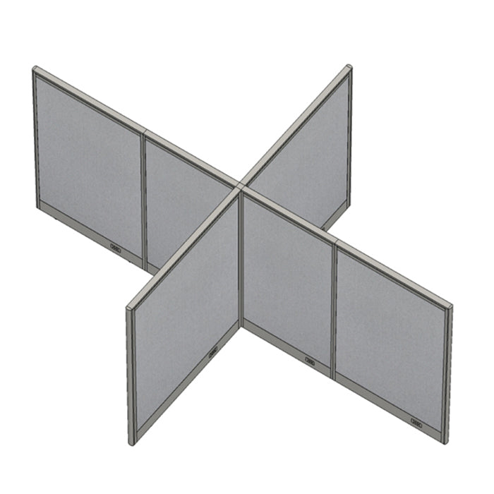 GOF Office X-Shaped Partition 96D x 132W x 60H - Kainosbuy.com