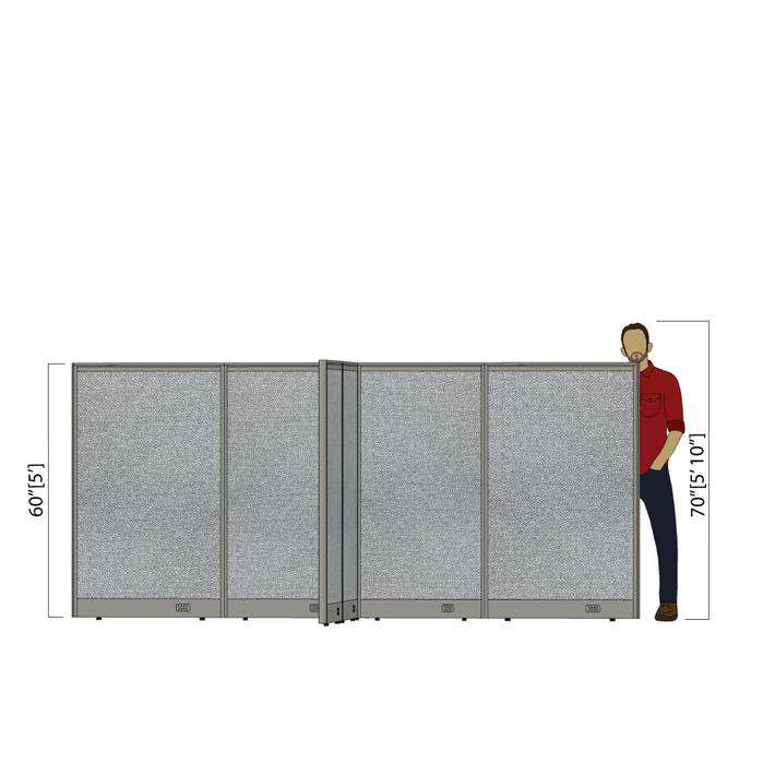 GOF Office X-Shaped Partition 120D x 132Wx 60H - Kainosbuy.com