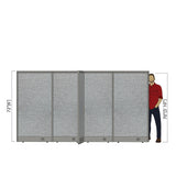 GOF Office X-Shaped Partition 120D x 132Wx 72H - Kainosbuy.com