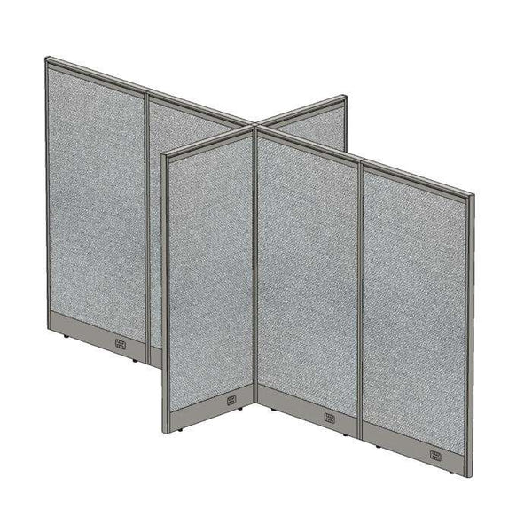 GOF Office X-Shaped Partition 60D x 144W x 72H - Kainosbuy.com