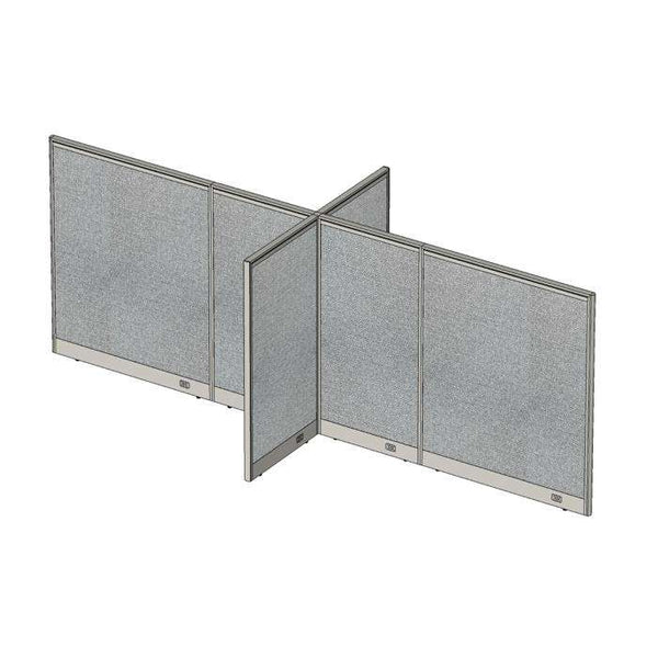 GOF Office X-Shaped Partition 60D x 156W x 60H - Kainosbuy.com